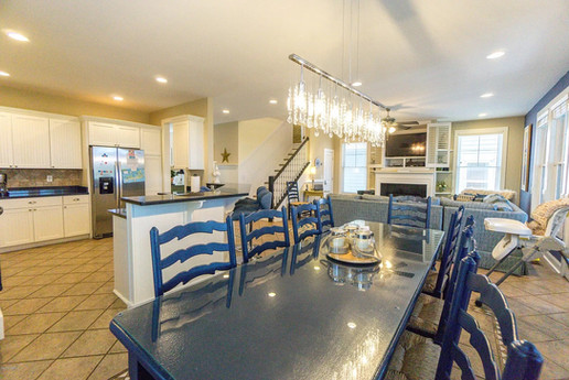 Open concept floorplan is roomy and fun for large families.