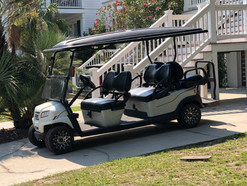 Brand New 2021 Club Car 6-Seater Golf Cart is included at no extra charge! Cart has lots of extras including a built-in cooler and seat belts.
