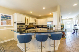 Kitchen opens to the Great Room so everyone is included during food preparation.