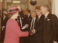 Peter meeting the Queen at the opening o