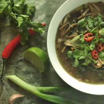 Asian Chicken Broth recipe using our bone broth by Allison of Naturopathy for Living