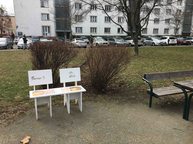 Couple Bench in Park in Vienna