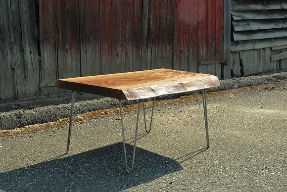 Table de salon - Noyer noir Live Edge et métal