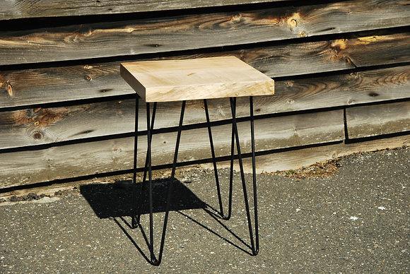 Table d'appoint-Érable Ambrosia live edge et métal
