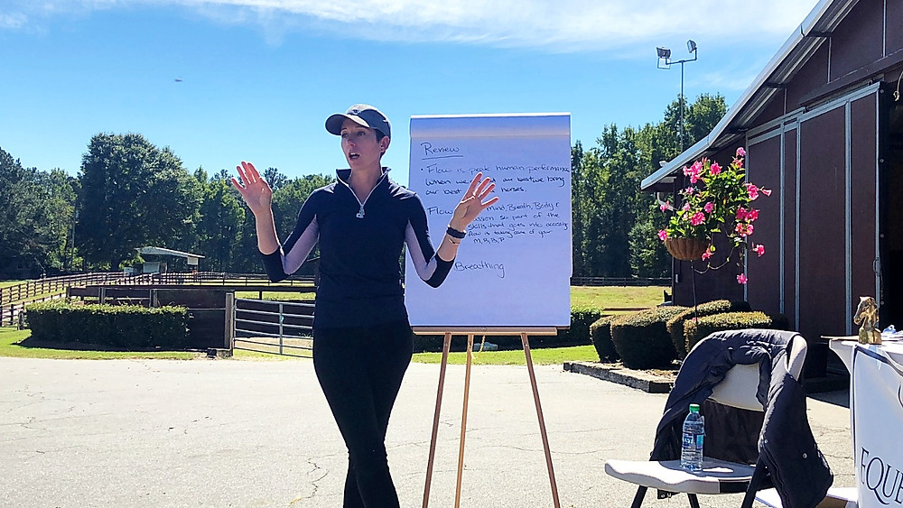 Cerice Berndsen of Equestrian Power wrapping up her presentation.