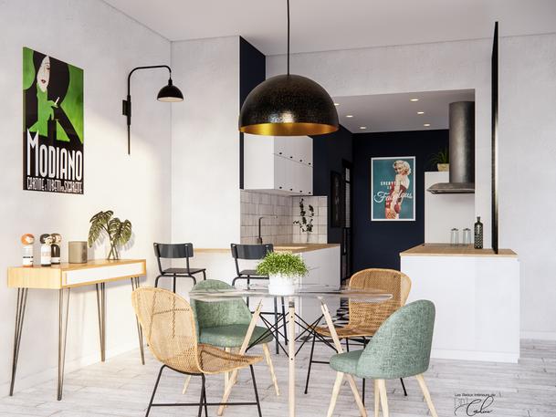Septembre 2020 - Aménagement virtuel d'un appartement en vente, nécessitant raffraichissement