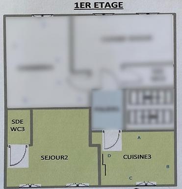 Plan de l'appartement actuel Les Beaux Interieurs de Caroline