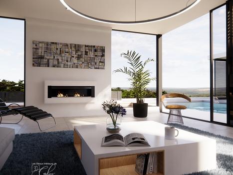 Janvier 2020 - Aménagement virtuel d'une maison en construction (cliquez pour découvrir le projet complet)