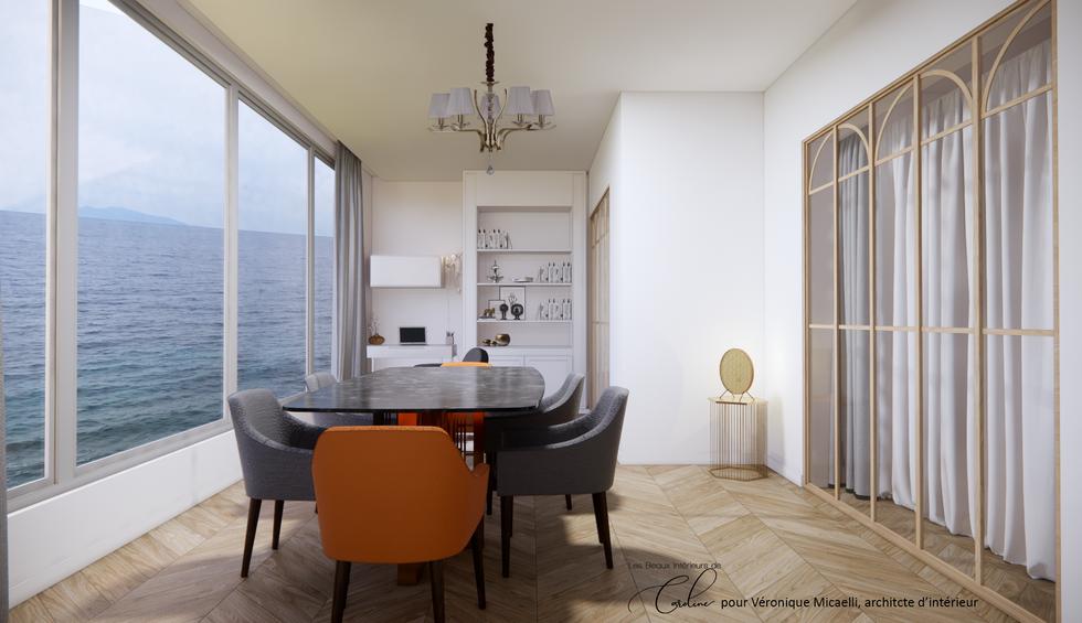 La veranda avec une chambre derrière la verrière (2ème proposition)