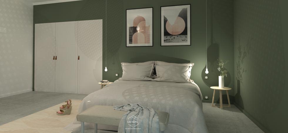 La chambre en version kaki