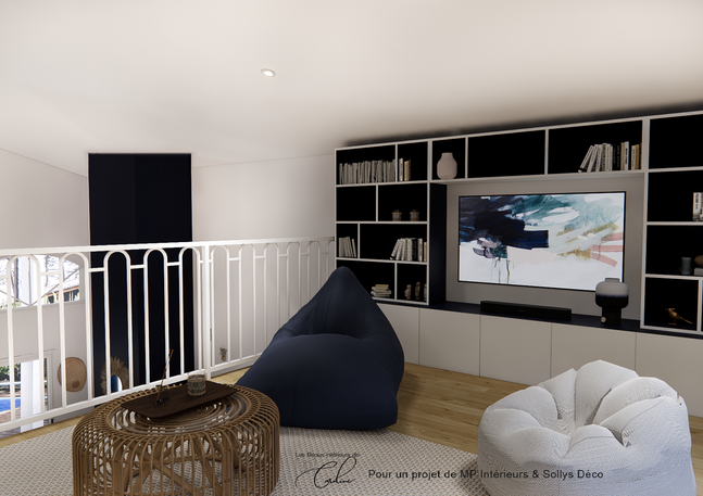Mezzanine meuble TV