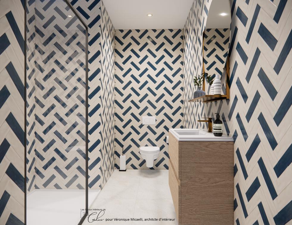 La salle de bain de la chambre nature