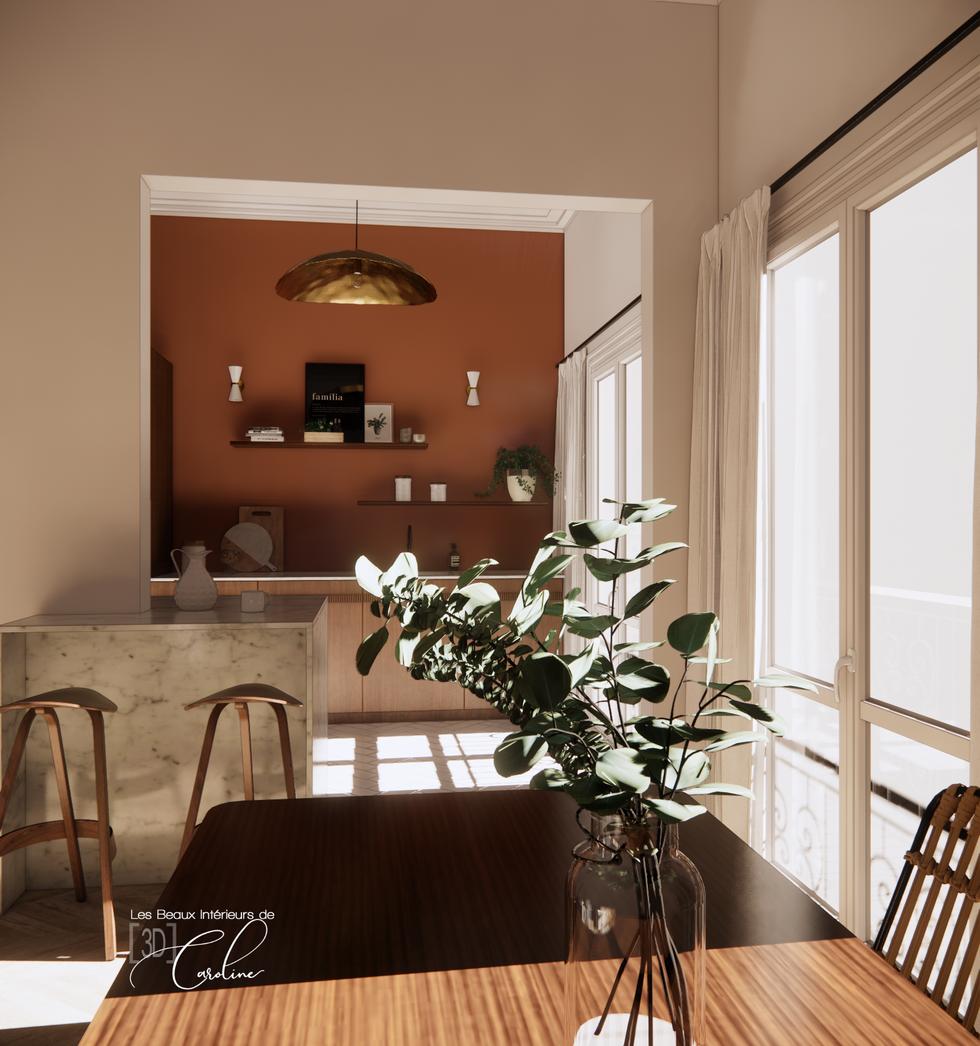 Projet 3D : vue depuis la salle à manger