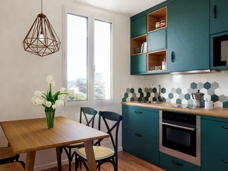 Février 2020 - Aménagement virtuel d'un appartement en construction (cliquez pour découvrir le projet complet)