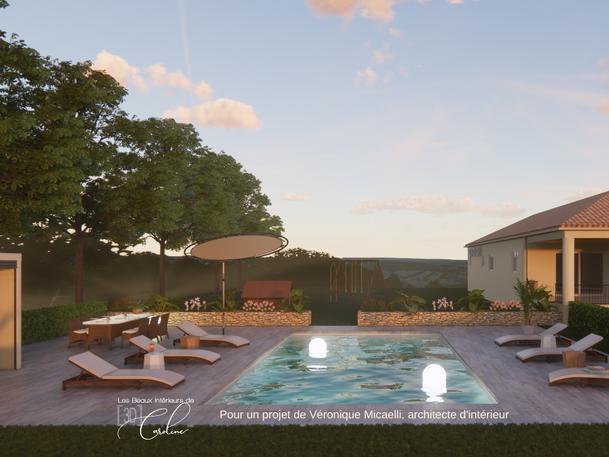 Septembre 2020 - Conception d'un extérieur de villa