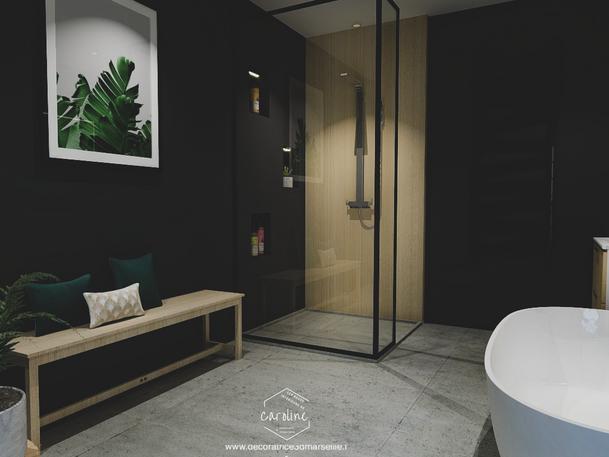 Août 2019 - Une salle de bain contemporaine esprit nature (cliquez pour découvrir le projet complet)