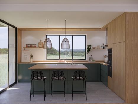 Août 2020 - Aménagement virtuel d'une cuisine contemporaine
