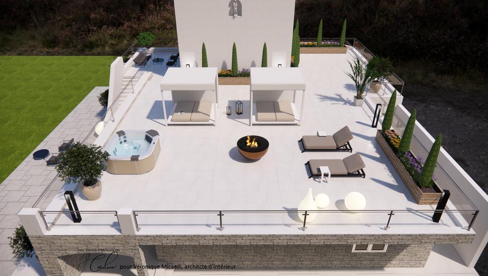 Vue sur la toit-terrasse