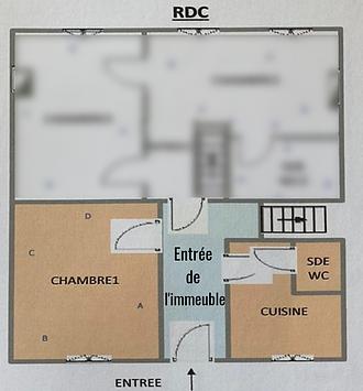 Plan rdc actuel Les Beaux Interieurs de Caroline