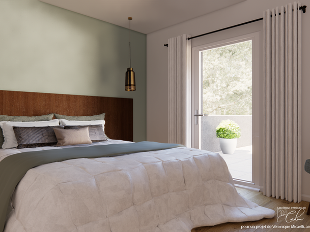 Juin 2020 - Différentes versions d'une chambre de location de vacances