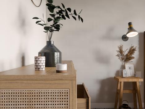 Septembre 2020 - Aménagement virtuel de la chambre d'un appartement à vendre avec travaux nécessaires