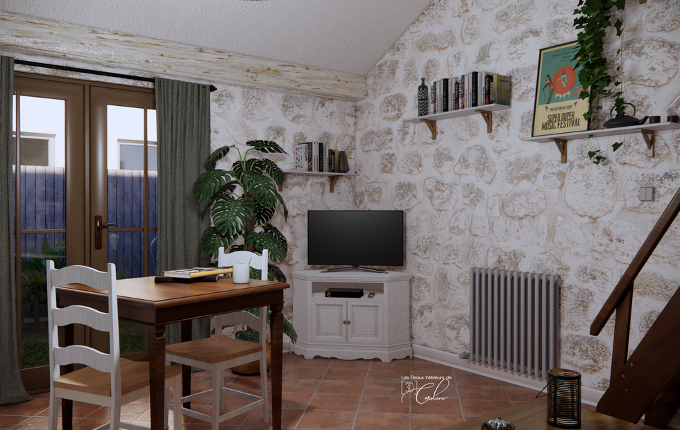 La pièce à vivre de cette maisonnette provençale