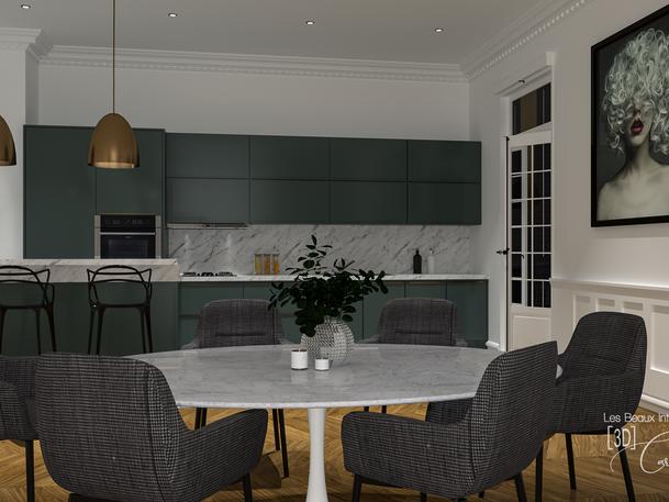 Octobre 2019 - Cuisine contemporaine dans un appartement haussmanien