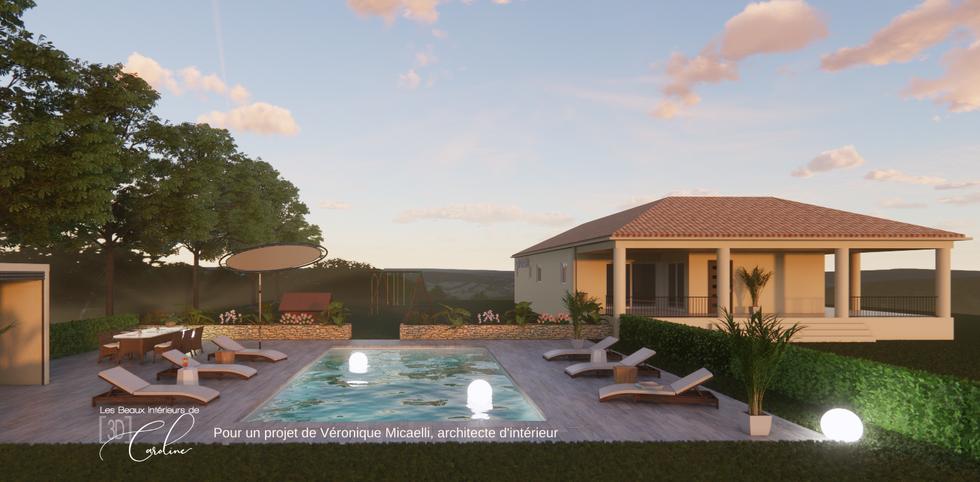 Aménagement espace piscine
