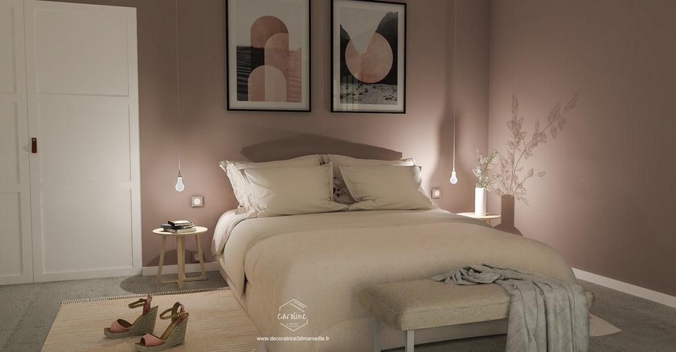 La chambre en version rose