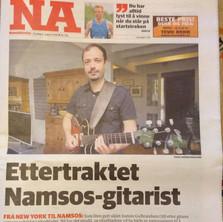 On the fronte page og Namdalsavisa