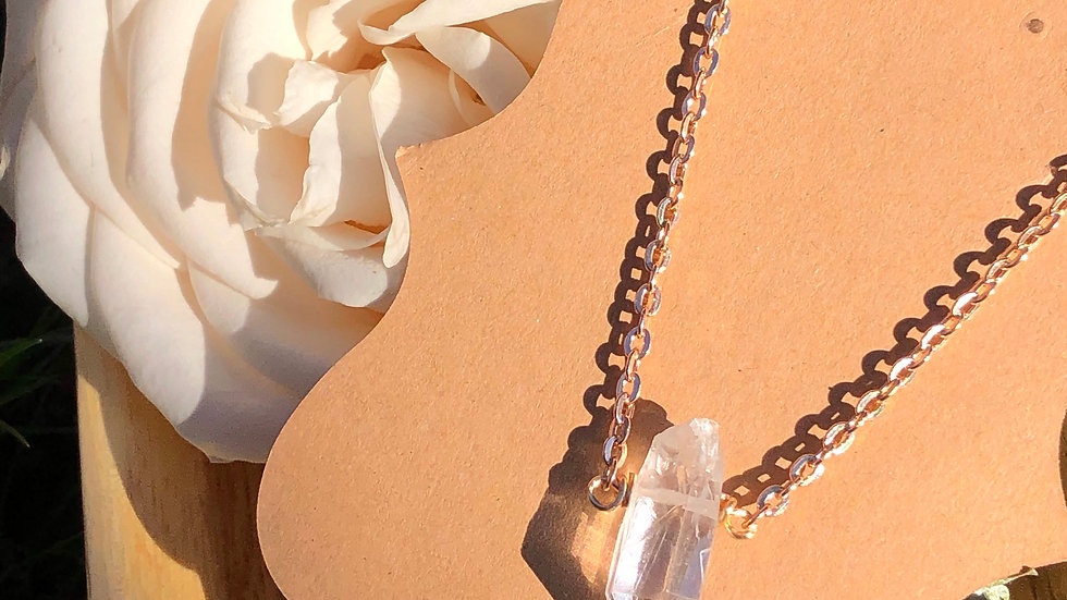 Clarity • 18 inch crystal necklace