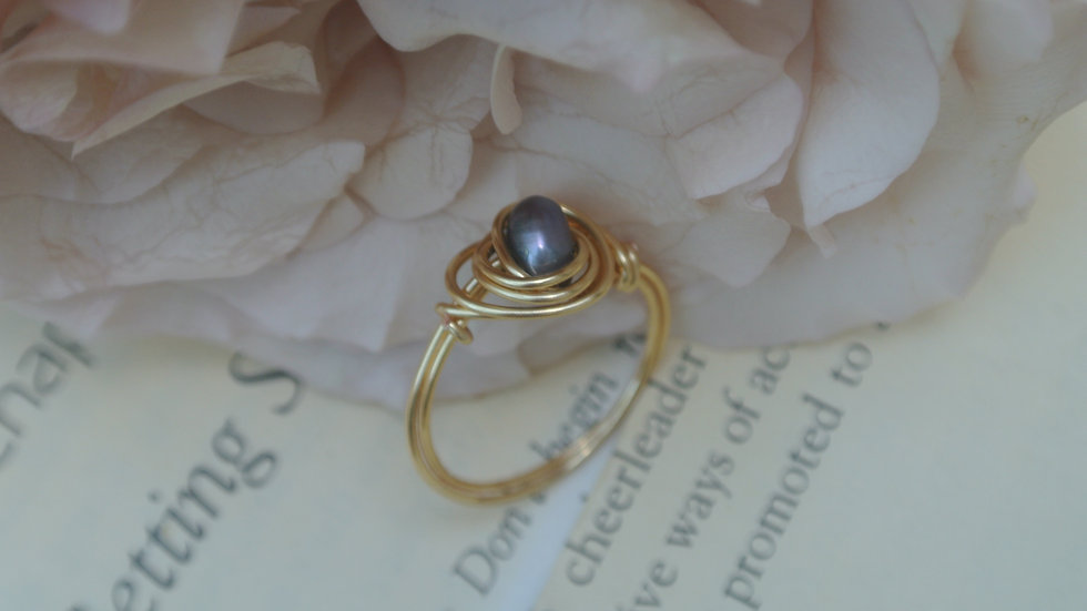 Black Pearl ~ Request ring size with purchase