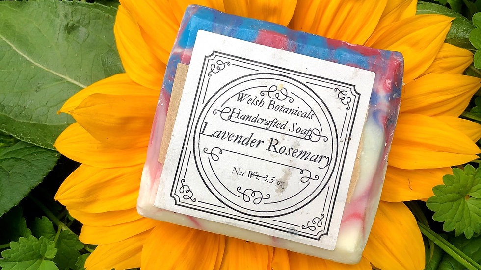 Lavender Rosemary• Homemade organic soap