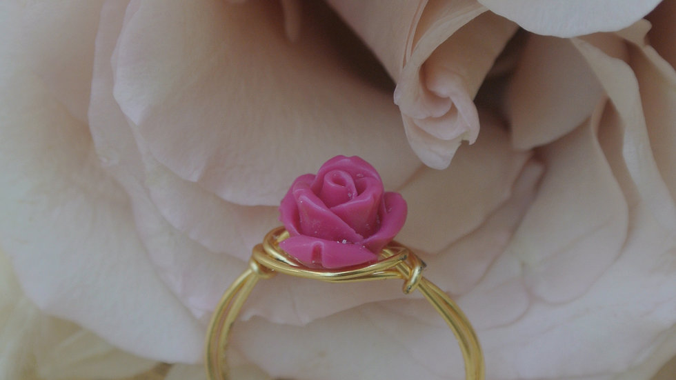 Rose ring ~ Request size with purchase