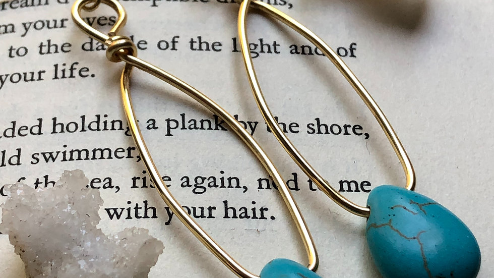 Turquoise Raindrop • Earrings