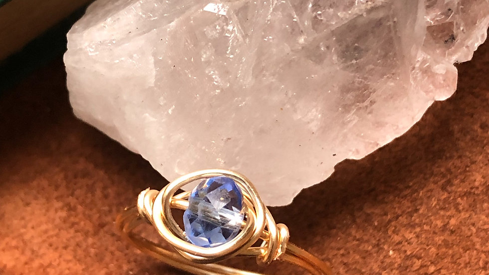 Wire wrapped ring • Request ring size with purchase