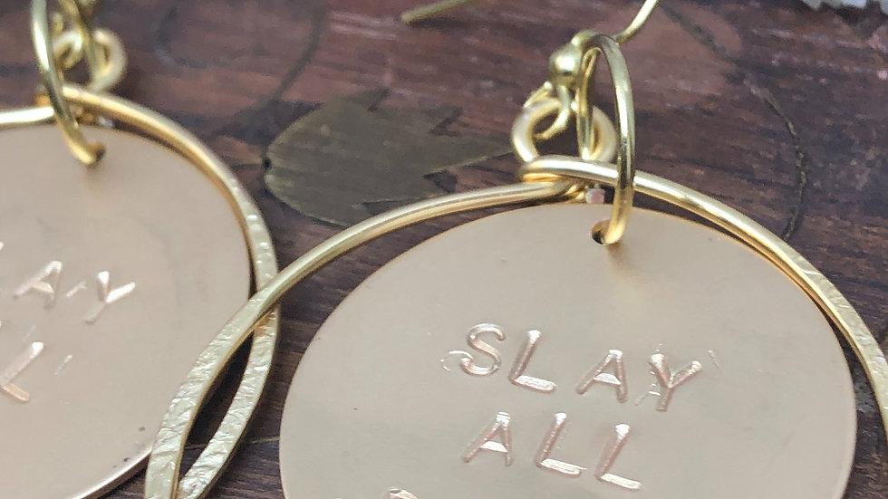 Slay All Day • Hoop Earrings