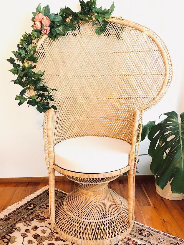 Vintage Rattan Peacock Chair