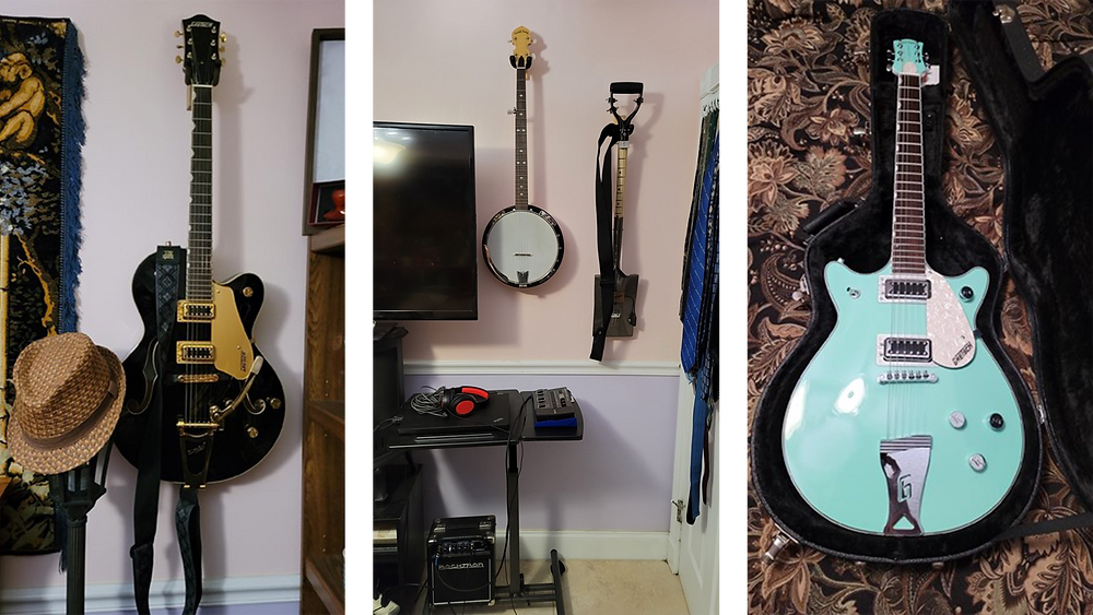 Various guitars and string instruments
