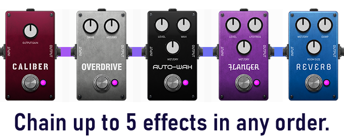 5 Chaos Audio virtual guitar pedals diagram