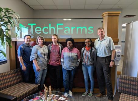 A. Crawford Mosley High School Students Visit TechFarms