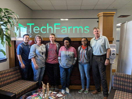 A. Crawford Mosley High School Students Visit TechFarms