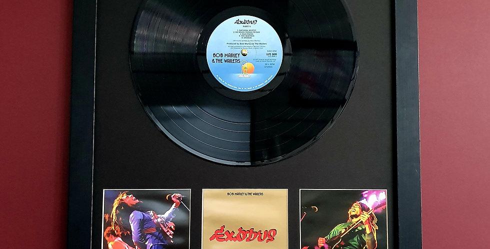 Bob Marley Exodus vinyl album display