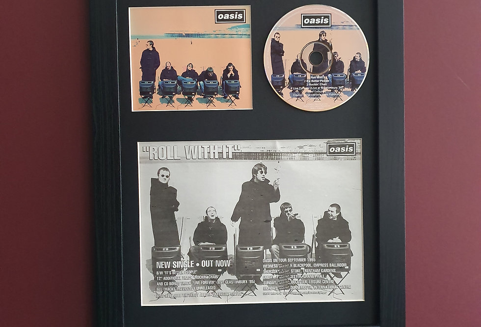 Oasis Roll with it cd single display