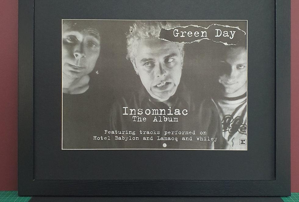 Green Day Insomniac framed promo advert
