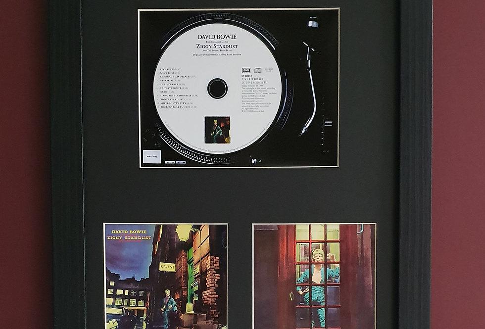 David Bowie Ziggy Stardust cd album display