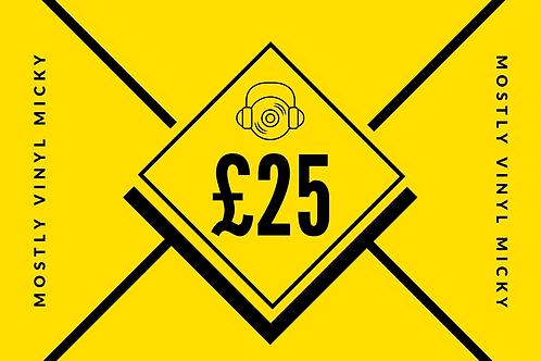 £25 Vinyl Micky Gift Card