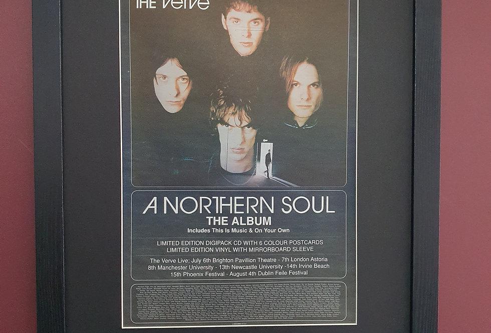 The Verve Northern Soul framed promo advert