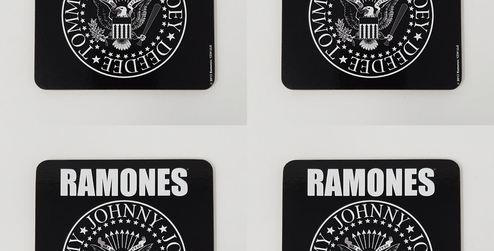 Set of 4 The Ramones Logo Coasters