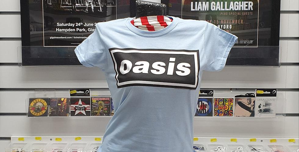 LADIES Oasis official Tshirt (sky blue)